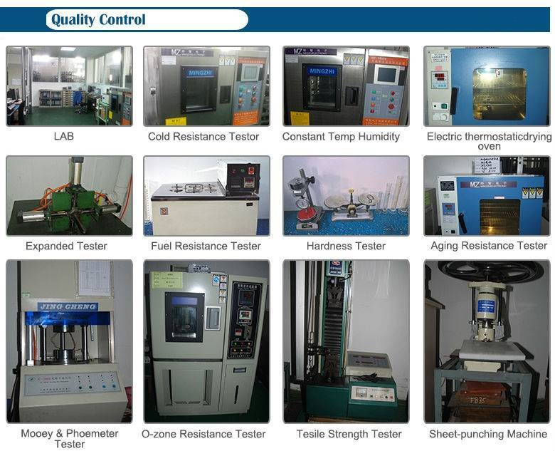 rubber products quality control